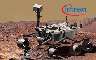 搭载有六个英飞凌芯片的探测器与火星首次亲密接触